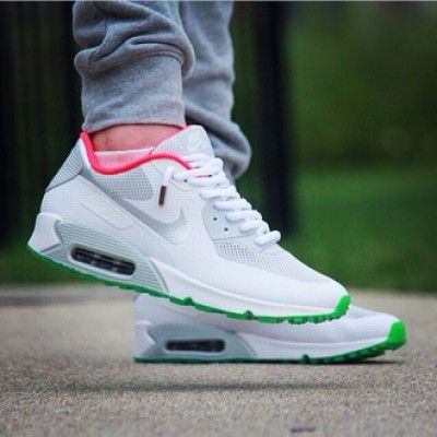 Nike Air Max 90 Hyperfuse Yeezy White Pink Mens Trainers UK