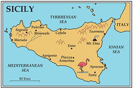map of sicily | On this 13day expedition, we will return to Sicily ...