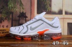 Nike Air Vapormax Plus Kpu White Silver Orange Men S Running Shoes Running Shoes For Men Nike Air
