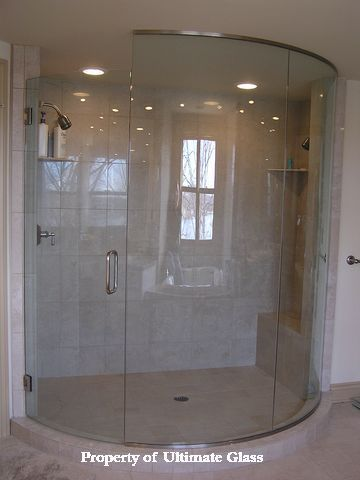 Image Result For Curved Glass Shower Door With Images Shower Doors