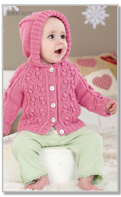 "S3838 Vintage Baby Knitting Pattern DK 16-22/"" Cardigans Sweater 0-24 months"