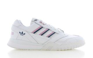A.R. Trainer Wit/Roze Dames | Trainer, Sneaker, Witte rozen