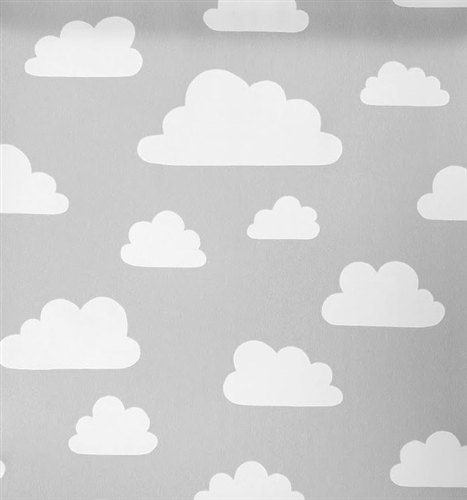 Grey Fabric With White Clouds 150 X 50cm By Lotteriinashop On Etsy 12 50 With Images Clouds Nursery Childrens Curtains Cloud Wallpaper