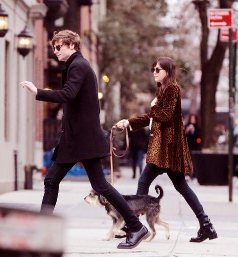 Dakota Johnson and her ex Matthew Hitt out for a NY stroll - 9 April 2015