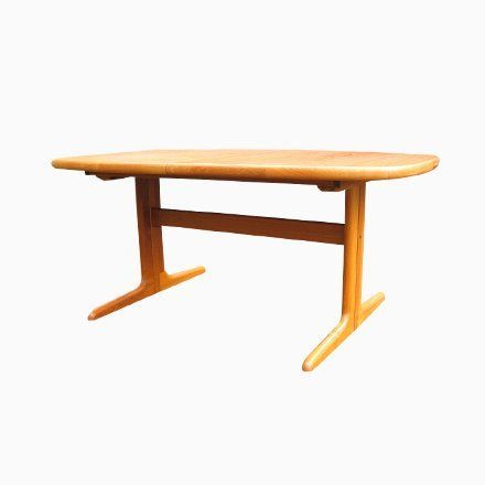 Danish Extendable Oval Teak Dining Table From Skovby 1970s