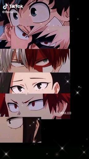 Deku, Modoriya , Todoroki , Yaoyorozu , Kirishima , Kyoka Jiro , Kanimari