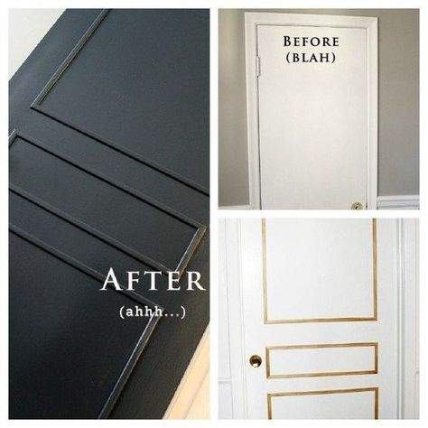 Cheap And Easy DIYs That Will Vastly Improve Your Home Finally get those paneled antique doors you always wanted with molding.Finally get those paneled antique doors you always wanted with molding. Easy Home Decor, Cheap Home Decor, Home Improvement Projects, Home Projects, Porta Diy, Diy Home Decor For Apartments, Diy Casa, Antique Doors, Panel Doors