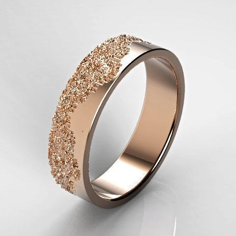 Classic Gold Ring with Lace Texture, Anniversary Ring,Classic Wedding Ring, Gold Wedding Band, Rose Gold Lace Ring, White Gold Ring, For her