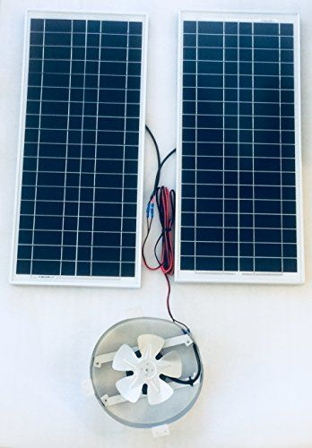 Amtrak Solar Attic Fan 2 Solar Panels 80 Watt Review Solar Attic Fan Solar Panels For Home Tesla Solar Roof