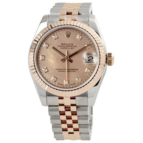 7a5c7590335 Rolex Oyster Perpetual Datejust Midsize Watch 178271-PGDDJ - Rolex - Shop  Watches by Brand - Jomashop