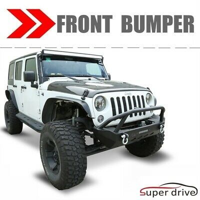 Sponsored Ebay Textured Front Bumper Fit 2007 2018 Jeep Wrangler