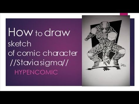 #comic #stepbystep #drawing How to draw sketch of comic character(stavia sigma) - YouTube