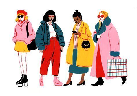 Ir De Compras Ilustracion De Moda Ilustraciones De Moda Bocetos De Moda