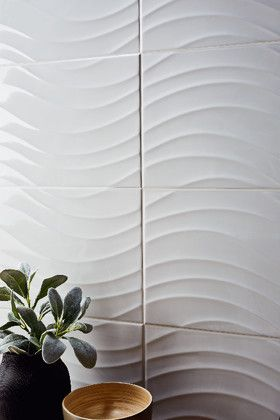Faience Catanzaro Blanc Brillant 25 X 50 Cm Brico Depot Parement Mural Decoration Decoration Murale