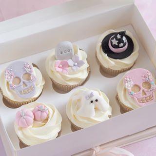 A Box Of Cute Fun Halloween Cupcakes Halloween