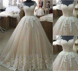 Elegant Vintage Lace Wedding Dress Details About Elegant Ball Gown Wedding Dresses Vintage Long L Di 2020 Gaun Pengantin Brokat Gaun Pesta Perkawinan Baju Model Lama