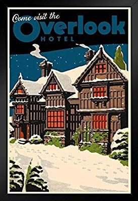 Amazon Com Come Visit The Overlook Hotel Famous Movie Vintage Travel Black Wood Framed Art Poster 14x20 Posters Prints In 2020 Overlook Hotel