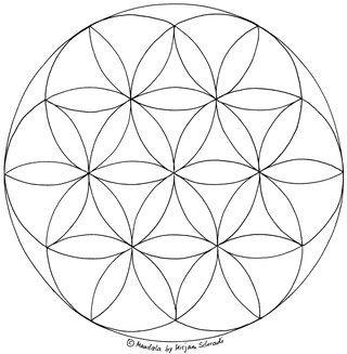 Blume Des Lebens Mandala Ausmalbilder Vorlage Mandalas Zum Ausdrucken Und Ausmalen Nr 9 Blume Des Lebens Mandala Blume Des Lebens Mandalas Zum Ausdrucken