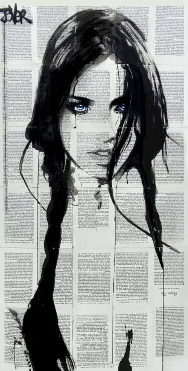 "Saatchi Art Artist Loui Jover; Drawing, ""celestine"" #art"