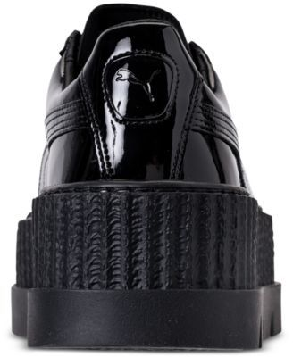 e21e85326348 Puma Women s Fenty x Rihanna Pointy Creeper Patent Casual Sneakers from  Finish Line - Black 8