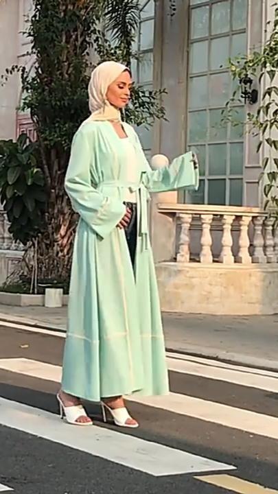 Dress, Ramadan Eid Dubai Kimomo Abaya for Women, Turkish Oman Arabic Muslim Fashion