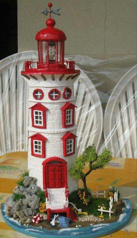Tejas decoradas Clay Flower Pots, Wine Bottle Art, Wine Bottle Crafts, Miniature Houses, Clay Houses, Ceramic Houses, Clay Art, Clay Pot Crafts, Diy Clay
