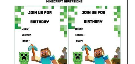 List of pinterest minecraft party invitations free printables 10 diy minecraft birthday party ideas filmwisefo