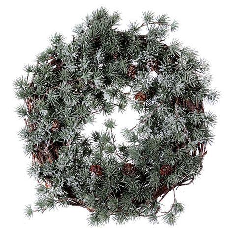Coroa Com Alerge Gelado Diam 45 Cm Advento Natal
