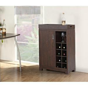 Groff Bar Cabinet With Wine Storage By Wayfair Wine Cabinets Bar Furniture Wine Storage