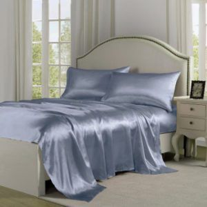 Periwinkle Blue Silk Bed Sheets #Bedding | Silk bed sheets, Dorm