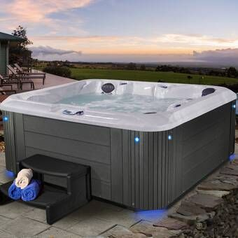 Endeavor 6 Person 50 Jet Hot Tub Hot Tub Backyard Hot Tub Inflatable Hot Tubs