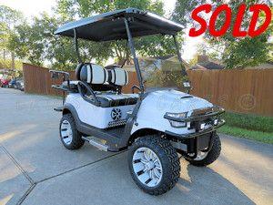 Custom White Alpha Body 2016 Club Car Precedent 4 Seater Electric Golf Cart Golf Carts Electric Golf Cart Hard Boiled Egg Peeler