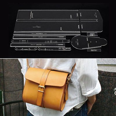 DIY Leathercraft Acrylic Bag Wallet Mould Pattern Stencil Handmade Template Kit