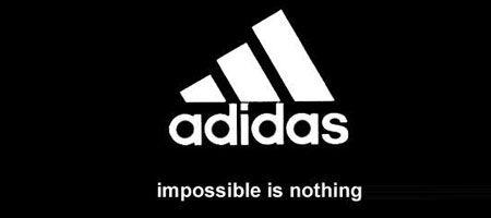 logo and slogan of adidas