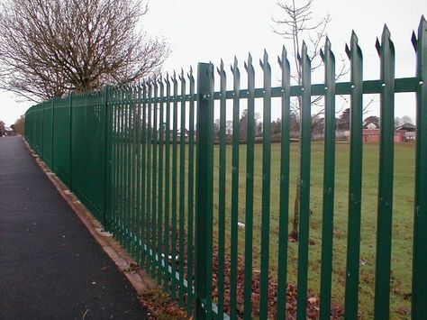 Pin By Zoyals International Fence Co On Fencing Post Metal Fence Panels Iron Fence Security Fence