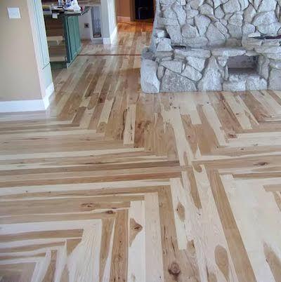 Wood Floor Of The Week Hickory Install In Mansion Mirrors The Ceiling Engineered Wood Floors Wood Wood Floor Installation