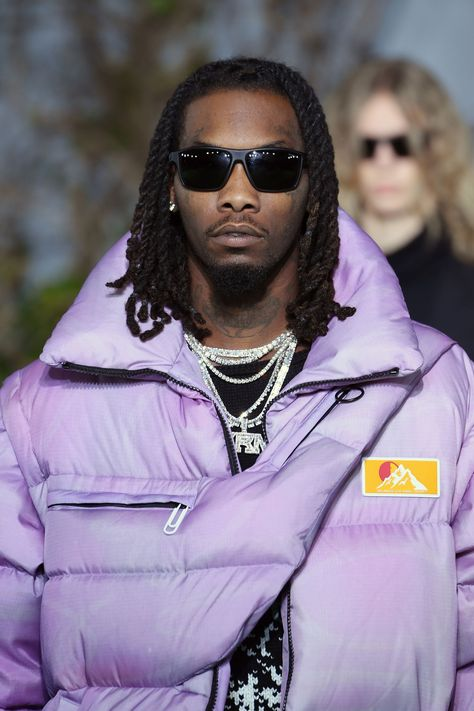 Offset Wore a Lilac, Floor-Length Puffer at Off-White's Fall 2019 Show and I Need It Now