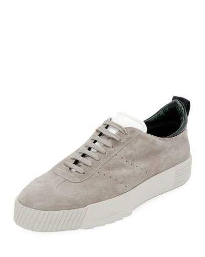 Giorgio Armani Men S Suede Low Top Sneakers Sneakers Men Fashion Men Suede Armani Men