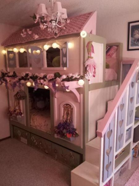 Pink Princess Bunk Bed | Decorative Bedroom | Kinderkamer | Pinterest |  Pink princess, Bunk bed and Princess