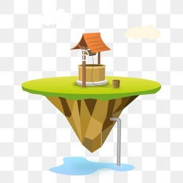 رسوم متحركة الكرتون الماء جيدا المياه الجوفية المياه الجوفية الكرتون رسوم متحركة جزيرة جزيرة معلقة Png والمتجهات للتحميل مجانا Decor Water Drawing Home Decor