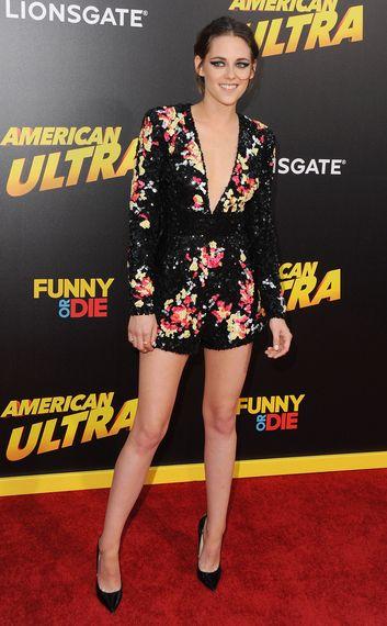 Kristen Stewart in Zuhair Murad at the American Ultra premiere