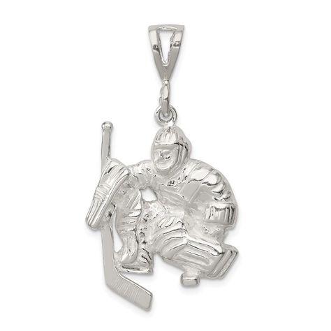 Sterling Silver Hockey Girl Charm