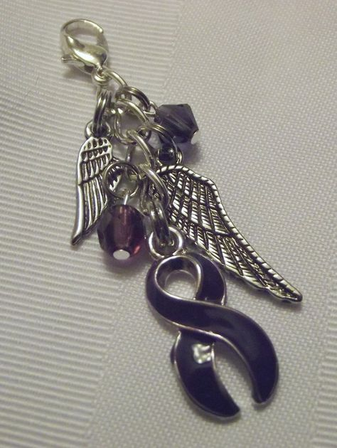 Purple awareness purse pull with wings!