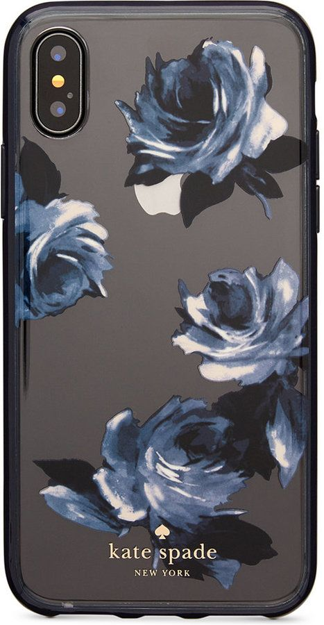 new style 4ee74 f90fa Kate Spade Night Rose iPhone X Case | technology needs in 2019 ...