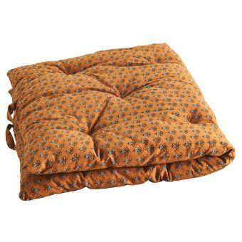 Madam Stoltz Materasso In Cotone Arancione E Nero Medio Cotton Mattress Mattress Embroidered Cushions