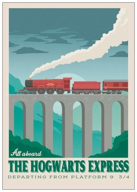 Harry Potter Poster In 2020 Harry Potter Poster Travel Posters