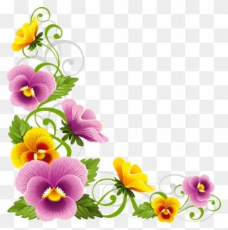Download Flower Corner Border Png Clipart Borders And Flower Borders Corner Png Transparent Png Flower Art Clip Art Rose Clipart