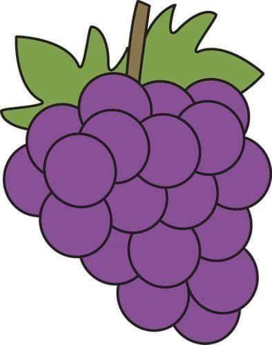 Tareitas Uvas Moradas Uva Dibujo Uvas Dibujos Frutas Y Verduras
