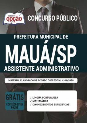 Apostila Prefeitura De Maua Sp 2020 Assistente Administrativo