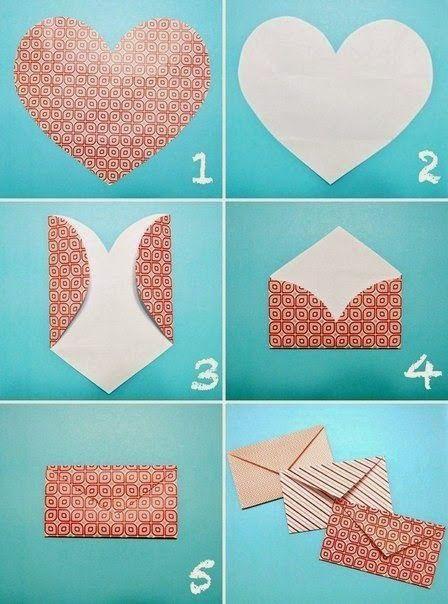 كيف تصنع ظرف من الورق بسيط وجميل بالصور Crafts Diy Envelope Paper Crafts